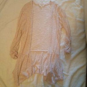 Light pink cardigan size small